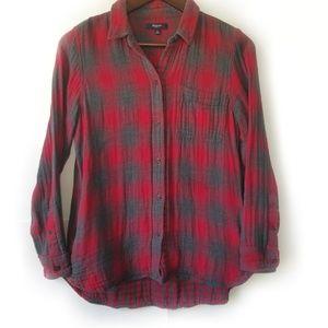 Madewell Ex-Boyfriend Shirt in Lansing Plaid Sz M
